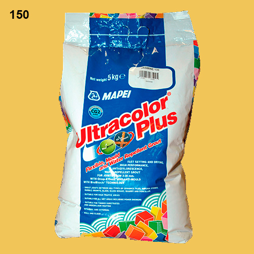 Затирка швов Mapei Ultracolor Plus №150 (Желтый)  5 кг.