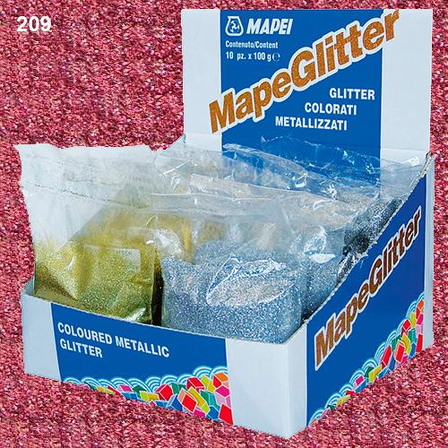 Блестки для затирки Mapei Mapeglitter №209 Pink (розовый) 0,1 кг.